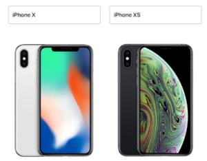 iphoneX iphoneXS サイズ 比較