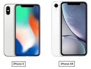 iphoneX iphoneXR サイズ 比較